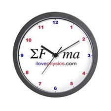 Force Causes Acceleration Wall Clock