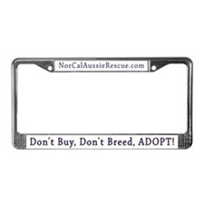 Cool Rescued breed License Plate Frame