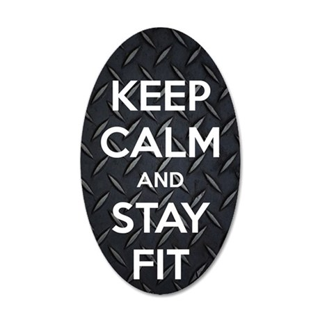 STAY FIT 35x21 Oval Wall Decal