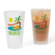 Retired Nurse (tropical) Drinking Glass
