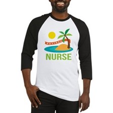 Retired Nurse (tropical) Baseball Jersey
