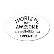 World's Most Awesome Carpenter Wall Decal