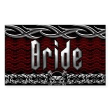 Metal Bride Rectangle Decal