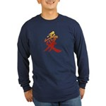 Kanji Love Long Sleeve blue Japanese T-Shirt