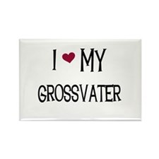 I Love My Grossvater Rectangle Magnet