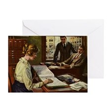 Vintage Business Office Greeting Card