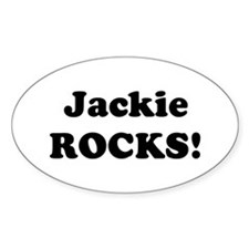 Jackie Rocks! Oval Decal