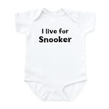 I Live for Snooker Onesie