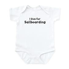 I Live for Sailboarding Infant Bodysuit