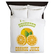 Fresh Squeezed Orange Juice Queen Duvet