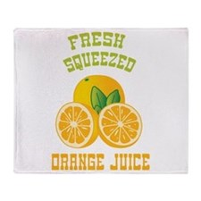 Fresh Squeezed Orange Juice Throw Blanket