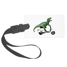 T-Rex Rides Scooter Luggage Tag