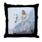 Angel #223 : winged horse : Throw Pillow