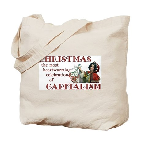 Christmas Capitalist Tote Bag