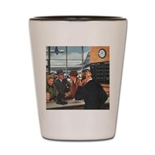 Vintage Airport Ticket Counter Shot Glass