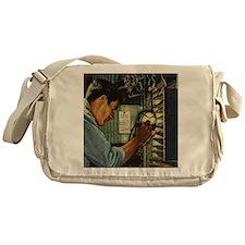 Vintage Business Electrician Messenger Bag