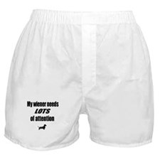 Wiener Needs Attention dachshund Boxer Shorts