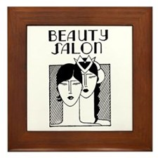 Retro Beauty Salon Framed Tile