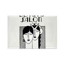 Retro Beauty Salon Rectangle Magnet (100 pack)