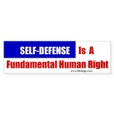 Self-Defense is Fundamental Bumper Bumper Sticker