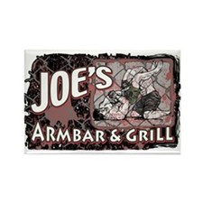 Armbar & Grill MMA 2 Rectangle Magnet
