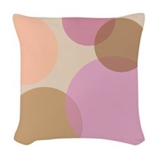 Overlapping Circles Woven Throw Pillow