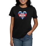 Vote Jeb Bush 2008 Political Women's Dark T-Shirt