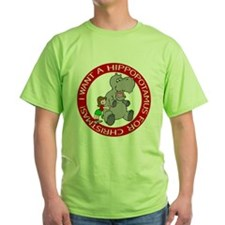 Hippopotamus For Christmas T-Shirt