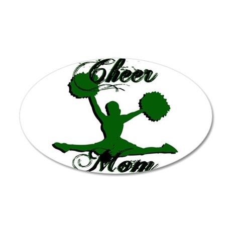 CHEER MOM [1 green] Wall Decal
