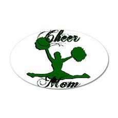 CHEER MOM [1 green] Wall Decal