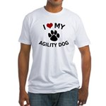 I Love My Agility Dog Fitted T-Shirt
