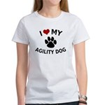 I Love My Agility Dog Women's T-Shirt