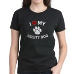 I Love My Agility Dog Women's Dark T-Shirt