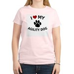I Love My Agility Dog Women's Pink T-Shirt