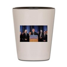 Press Conference Shot Glass
