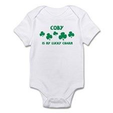 Coby is my lucky charm Infant Bodysuit