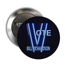 "Bill Richardson Neon Vote 2.25"" Button (100 pack)"