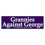Grannies Against George (Bumper Sticker)