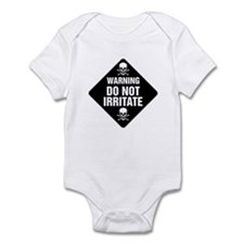 DO NOT IRRITATE Warning Sign Infant Bodysuit