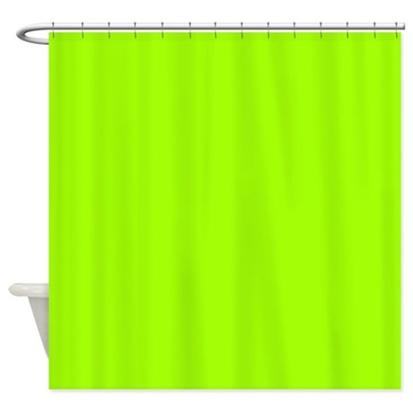 Electric Lime Solid Color Shower Curtain