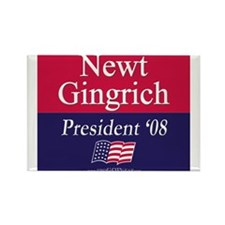 """Newt Gingrich 2008"" Rectangle Magnet (10)"