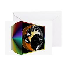 BEAR PRIDE IN PRISM BOX Greeting Cards (Package 10