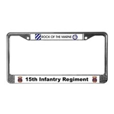 15th Infantry Regiment License Plate Fra