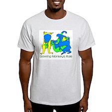 Glowing Monkeys Ash Grey T-Shirt