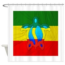 Rasta Flag Honu Shower Curtain