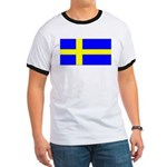 Sweden Blank Flag Ringer T