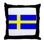 Sweden Blank Flag Throw Pillow