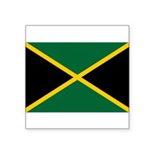 Jamaican Flag (Rectangular) Sticker