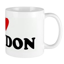 I Love BRANDON Small Mug