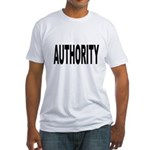 Authority (Front) Fitted T-Shirt